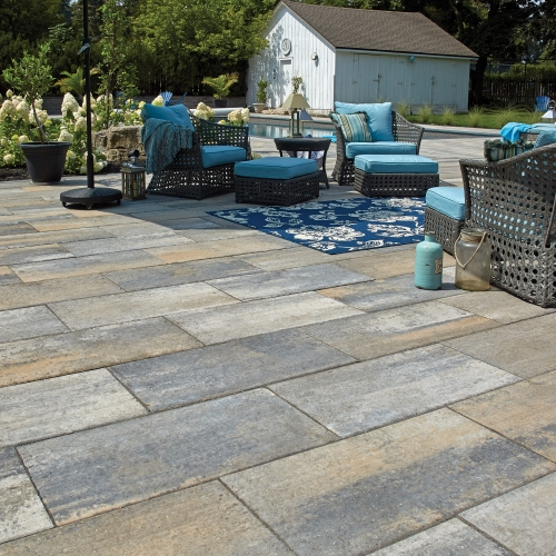 Patio using Monterey products from Brampton Brick