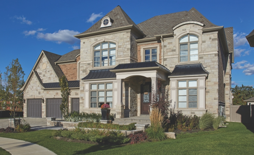 House using Vivace product from Brampton Brick FR