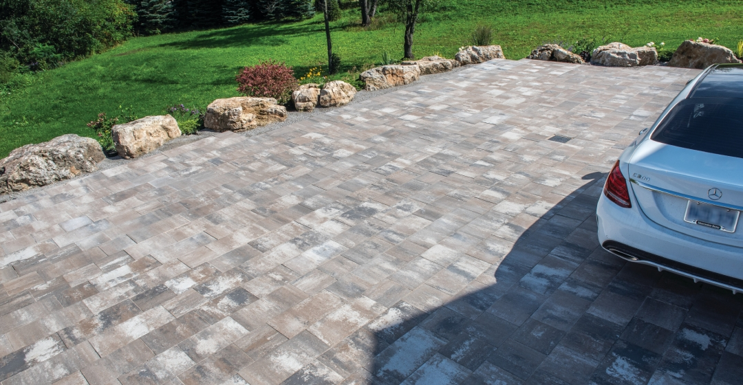 Driveway using Molina 80mm product from Brampton Brick