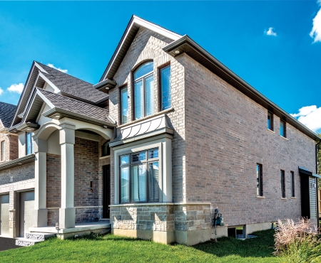 House using Mediterranean Series and Vivace products from Brampton Brick