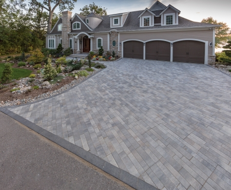 Driveway using Presidio product from Brampton Brick