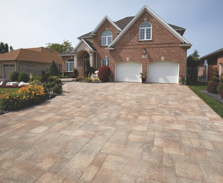 Driveway using Rialto 80mm product from Brampton Brick